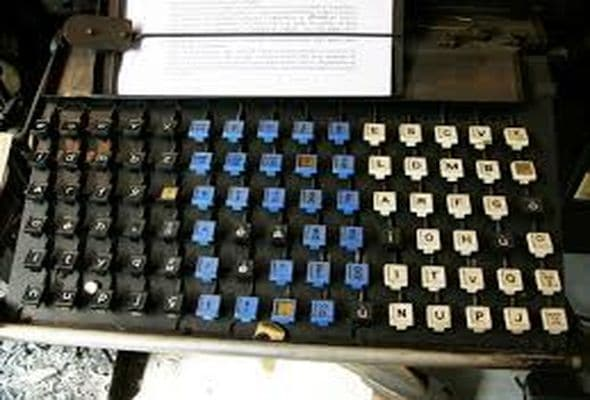 Histoire de l'impression Photo Clavier de linotype